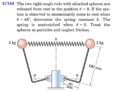 The two right-angle rods with attached spheres are