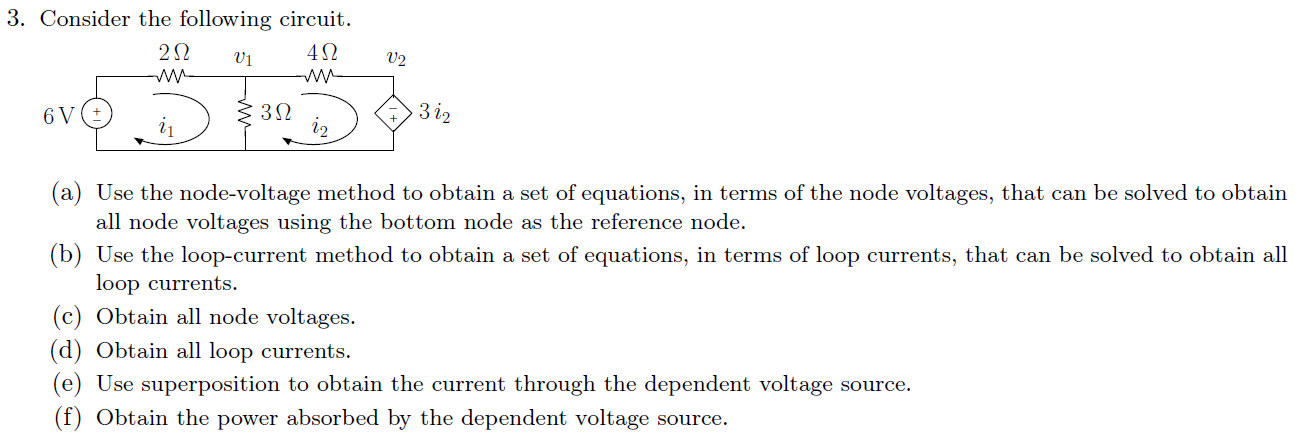 Consider the following circuit. Use the node-volta