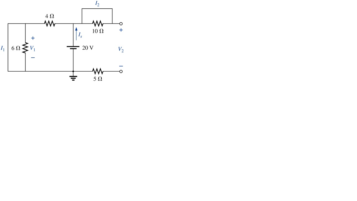 In the attached circuit, What are the values of I1