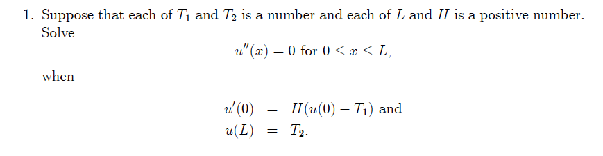 Suppose that each of T1 and T 2 is a number and