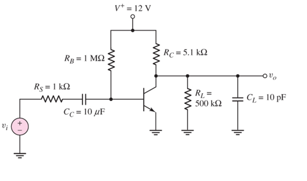 Draw the equivalent circuit of this amplifier resp