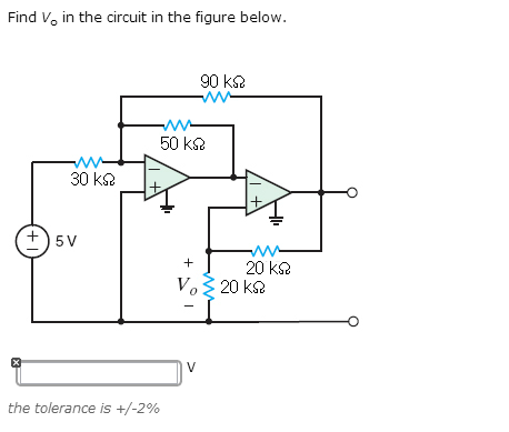 Find V 0 in the circuit in the figure below. the