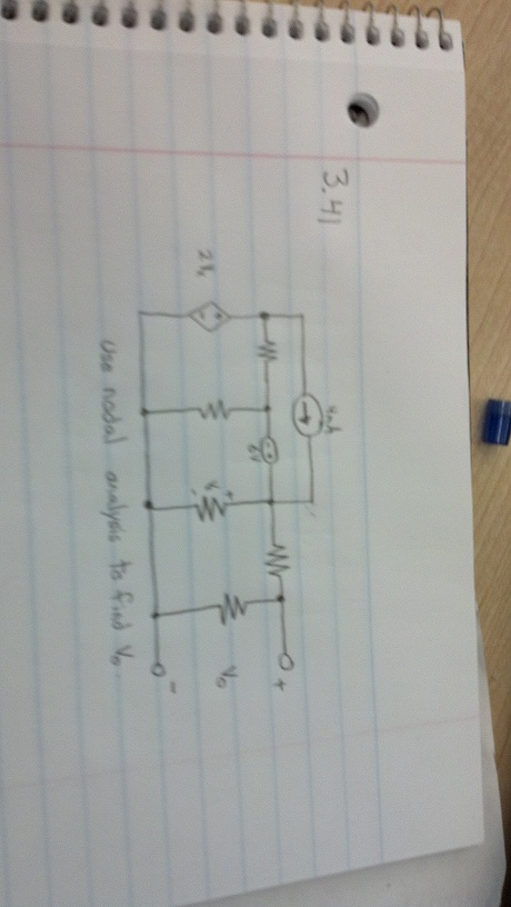 The dependent Voltage source is (2Vx) the resistor