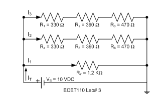 Calculate the following voltages for this circuit