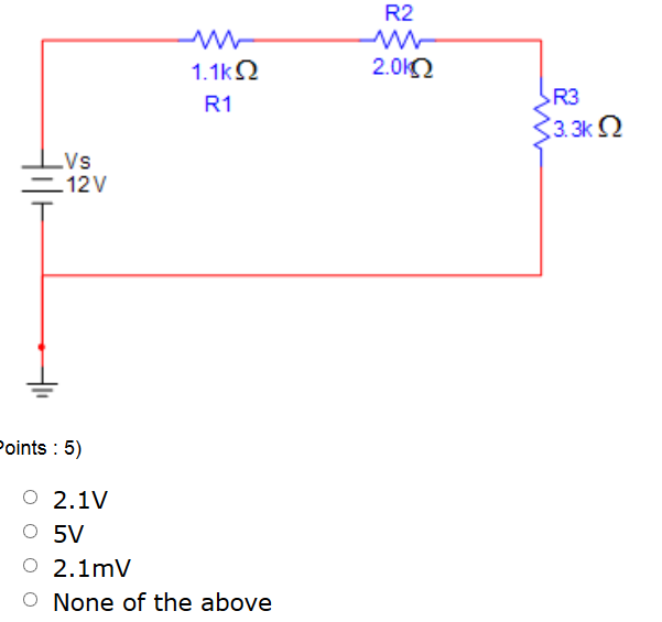 Given a series electric circuit as shown below, wh