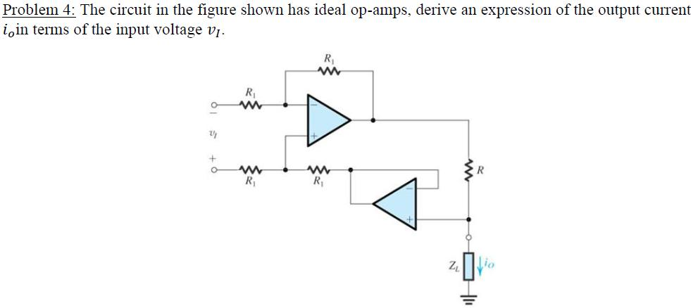 The circuit in the figure shown has ideal op-amps,