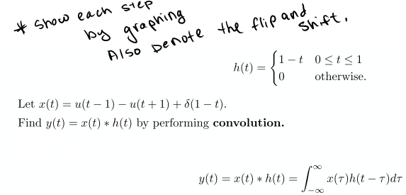 perform convolution on the following problem provi