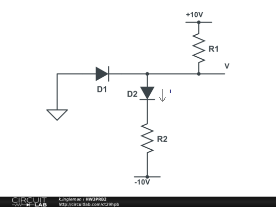 Use the constant-voltage-drop model for the diodes