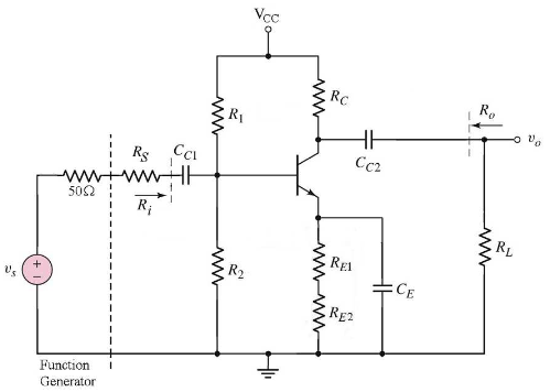 Assume the circuit above, answer the following que
