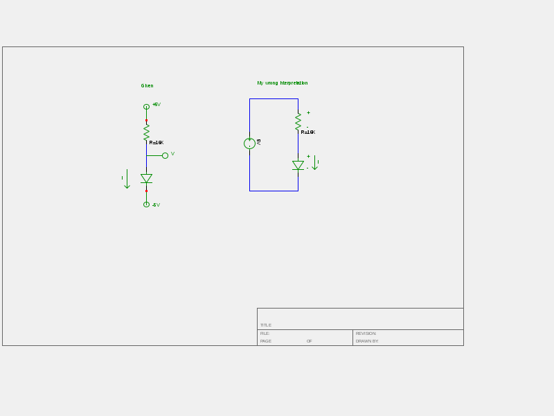 How do you interprete the following circuit diagra