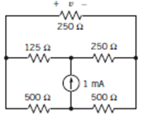 solve the voltage cross througth the top 250ohms r