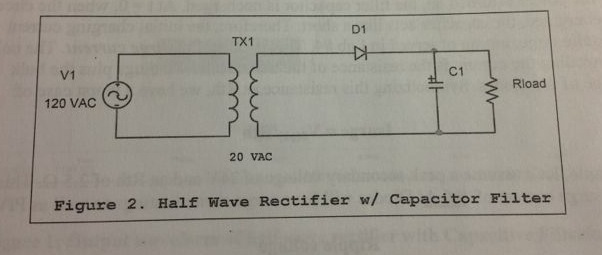 Suppose I have this rectifier circuit: RLoad = 6