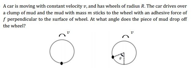 A car is moving with constant velocity v, and has