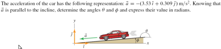 The acceleration of the car has the following repr