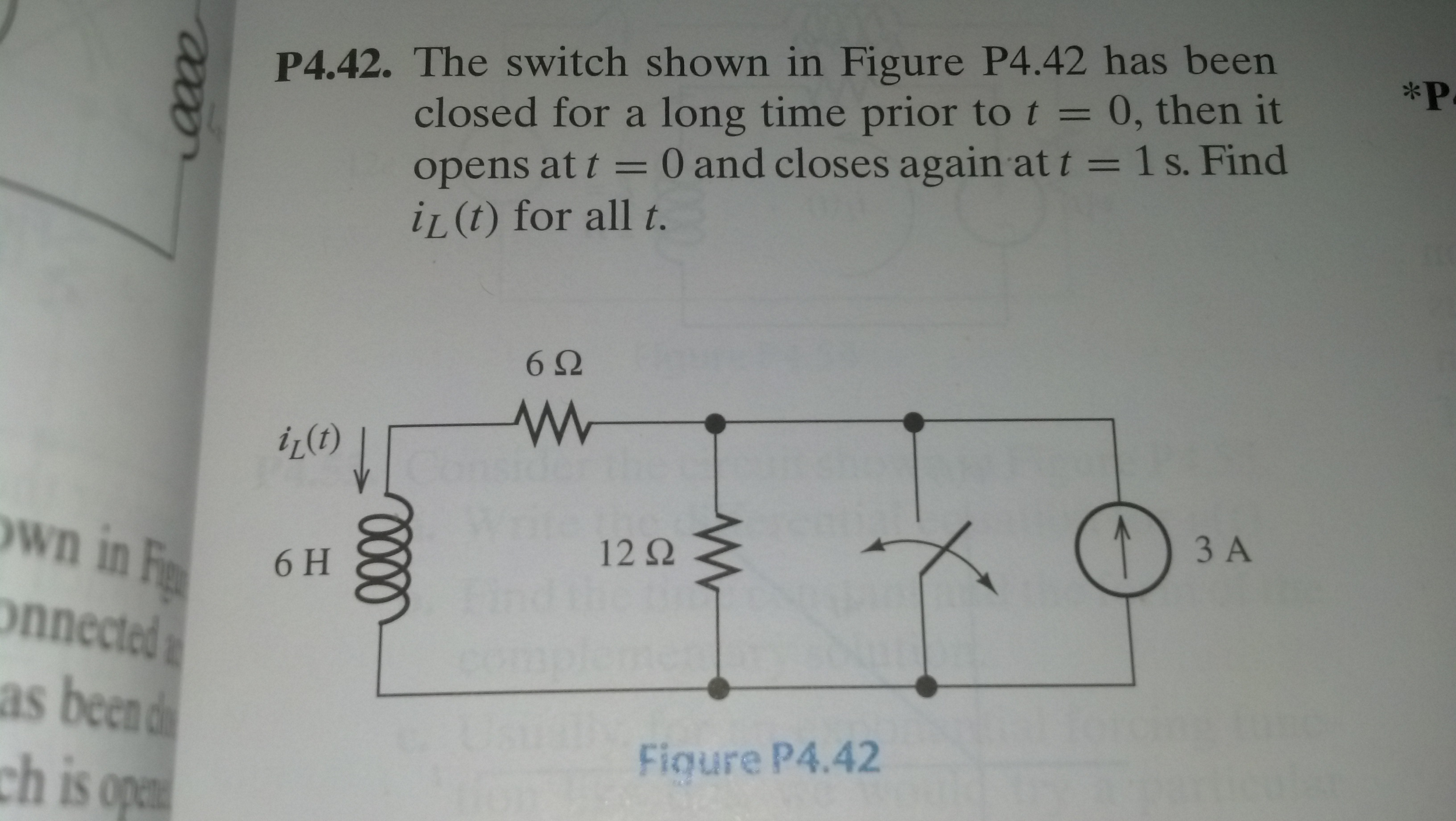 The switch shown in figure p4.42 has been closed f