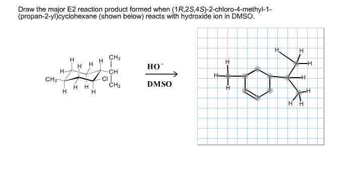 Draw The Major E2 Reaction Product Formed When  1r