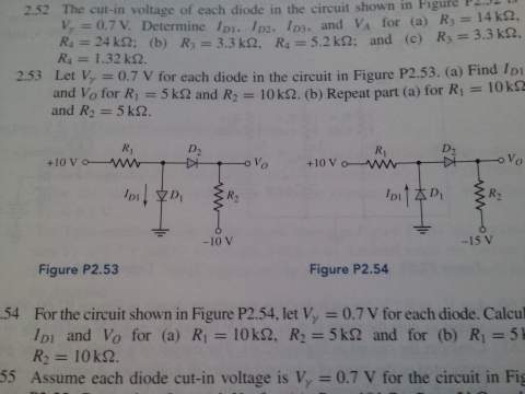 The cut-in voltage of each diode in the circuit sh