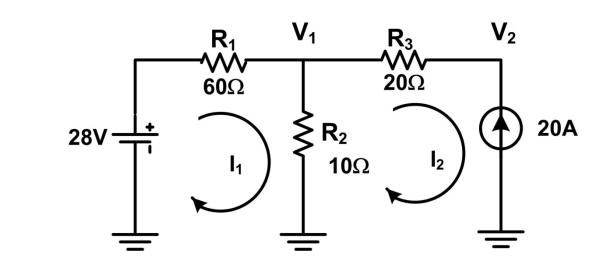 6) For the circuit in Figure 5 use your choice of