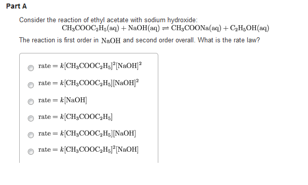 Consider the reaction of ethyl acetate with sodium