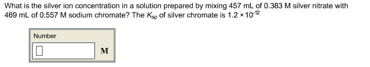 What is the silver ion concentration in a solution