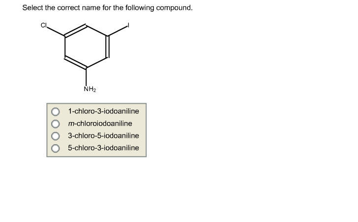 Select the correct name for the following compound