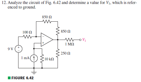 Analyze the circuit of Fig. 6.42 and determine a v