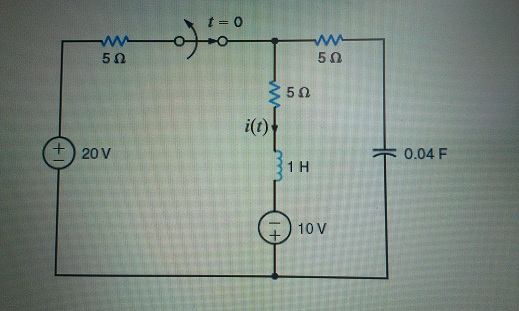 The switch in the circuit in the Figure has been c