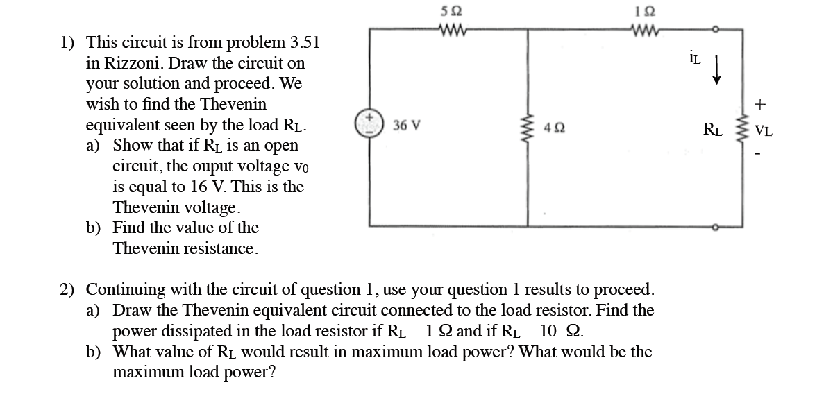 This circuit is from problem 3.51 in Rizzoni. Draw