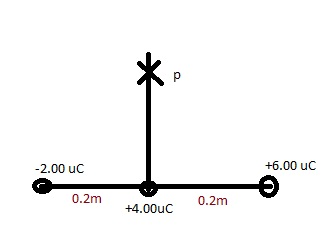what is the electrical potential at point P due to