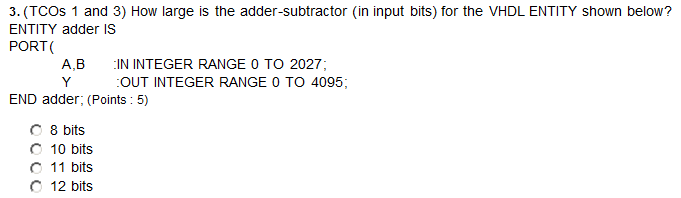 (TCOs 1 and 3) How large is the adder-subtractor (