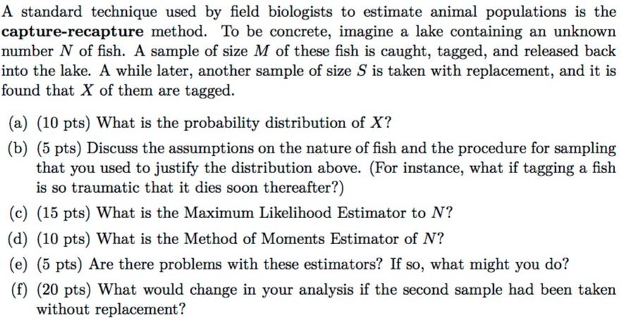 What is the capture-recapture method?