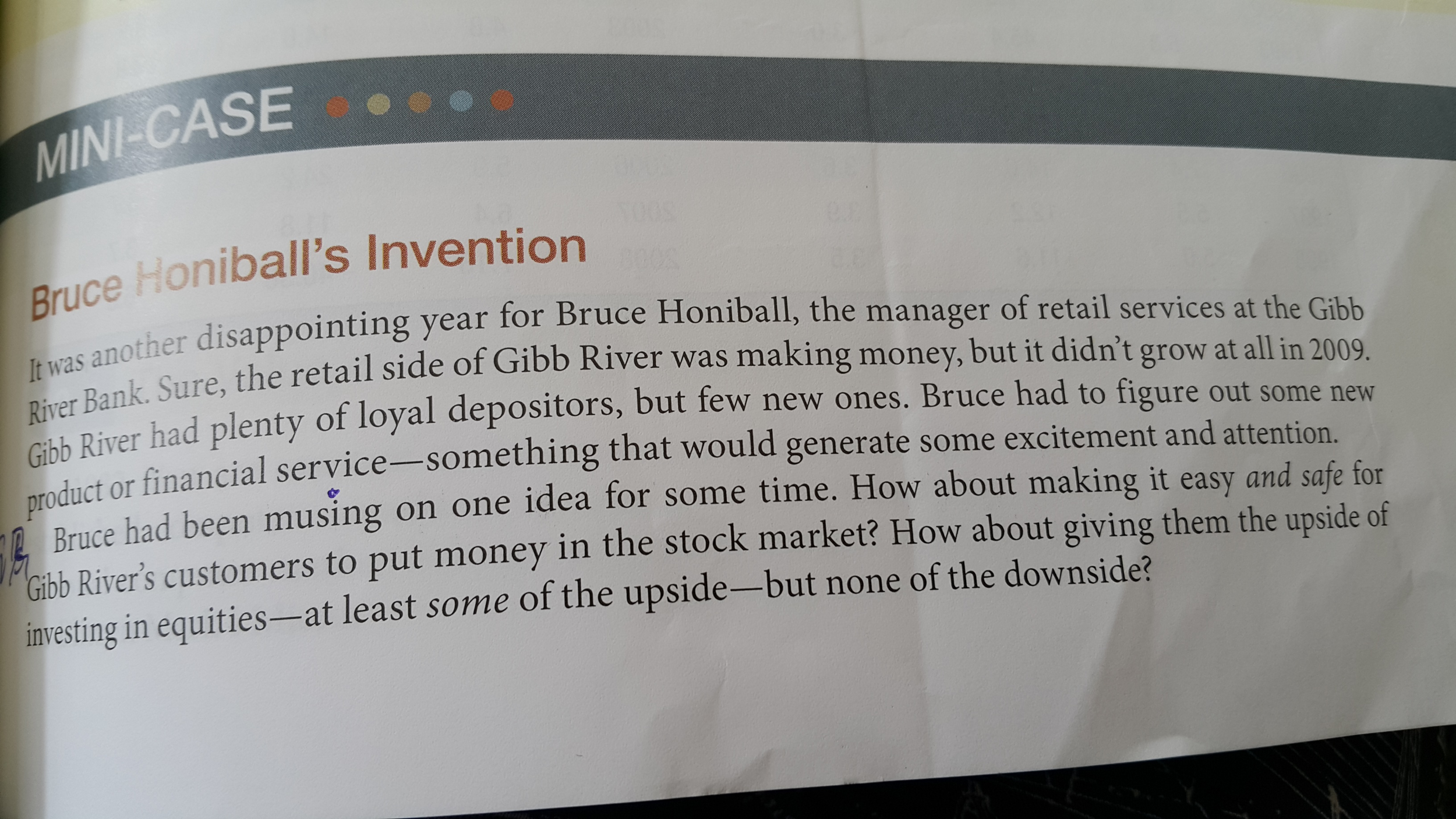 mini case bruce honiball s invention Fie402n 2015 course package case full uploaded  in the value of the australian all ordinaries stock index1 3mini‐case bruce honiball's invention (fra .