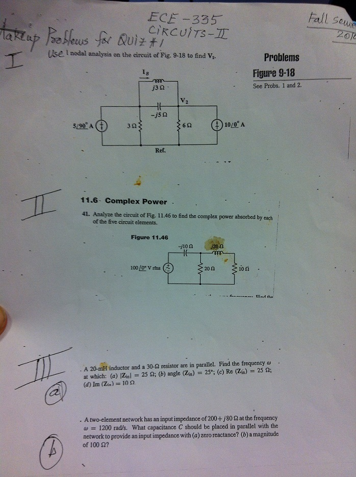 Analyze the circuit of Fig. 11.46 to find the comp