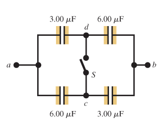 The capacitors in the the figure (Figure 1) are in
