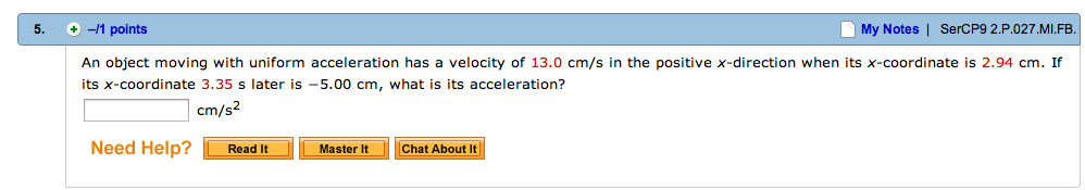 An object moving with uniform acceleration has a v