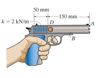 The spring in the toy gun has an unstretched lengt