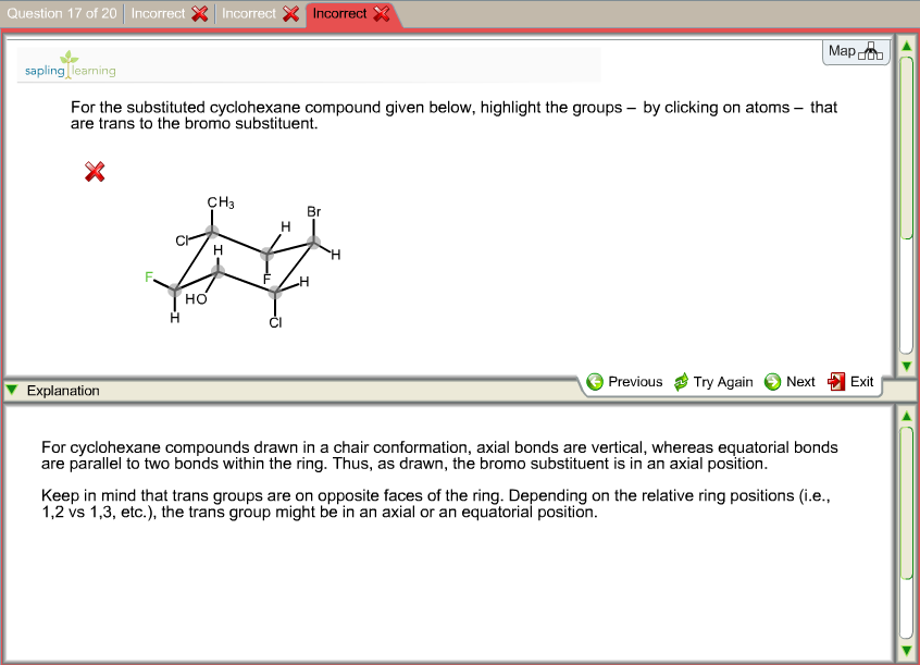 For the substituted compound given below, highligh