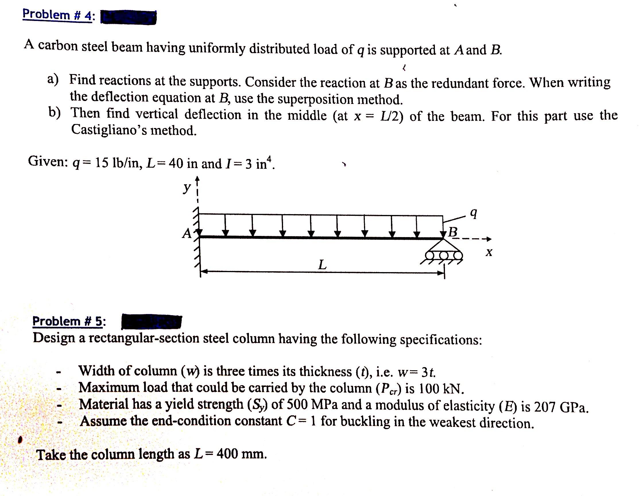 Beam Deflection Essay