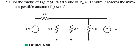 For the circuit of Fig. 5.90, what value of RL wil
