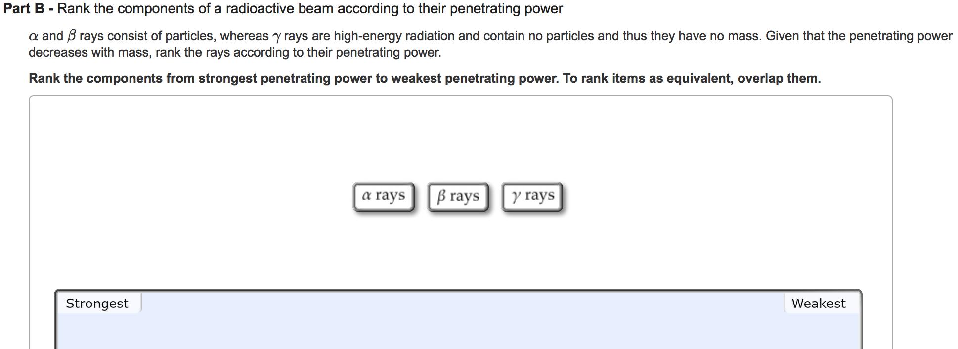 high penetrating power