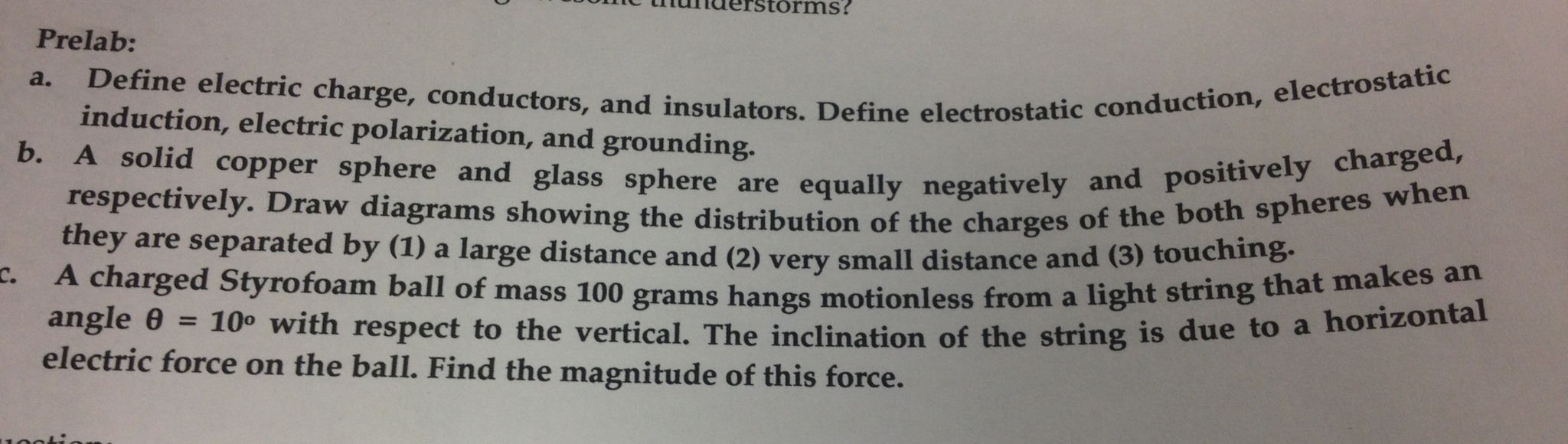 Define electric charge, conductors, and insulators