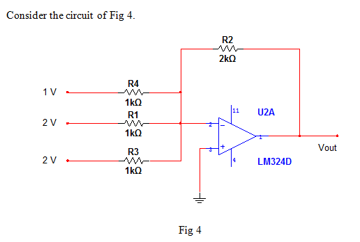 1) What type of circuit does the diagram of Fig 4