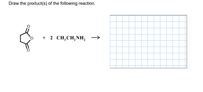 Draw the product(s) of the following reaction.