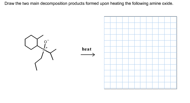 Draw the two main decomposition products formed up