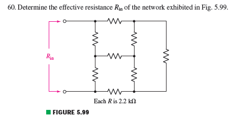 Determine the effective resistance Rin of the netw