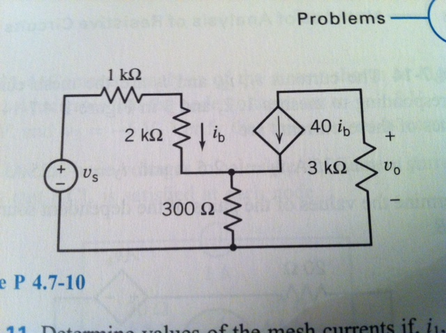 The circuit shown in is the small signal model of