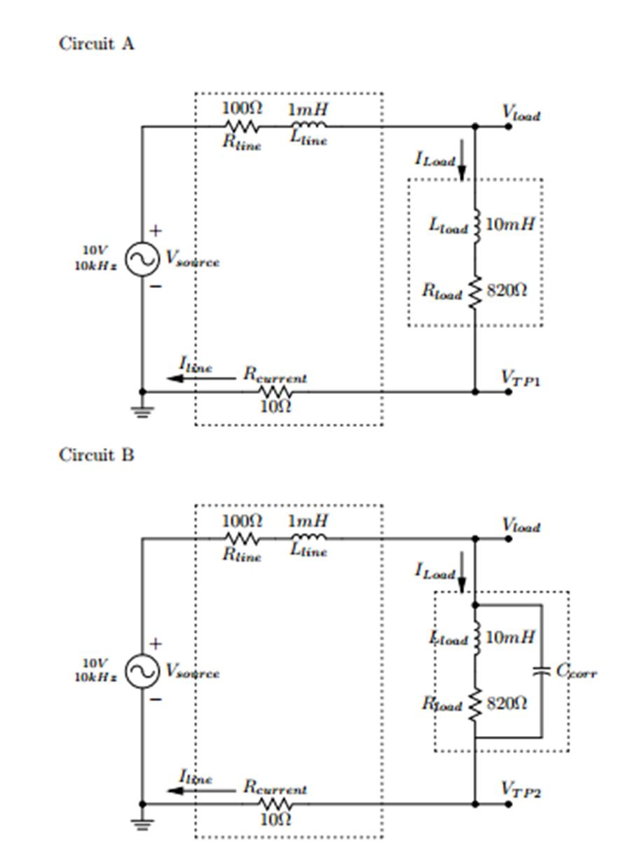 for circuit A: a. Determine the load current, ILoa