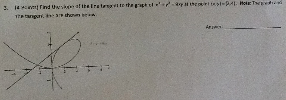 Find the slope of the line tangent to the graph of chegg ccuart Choice Image