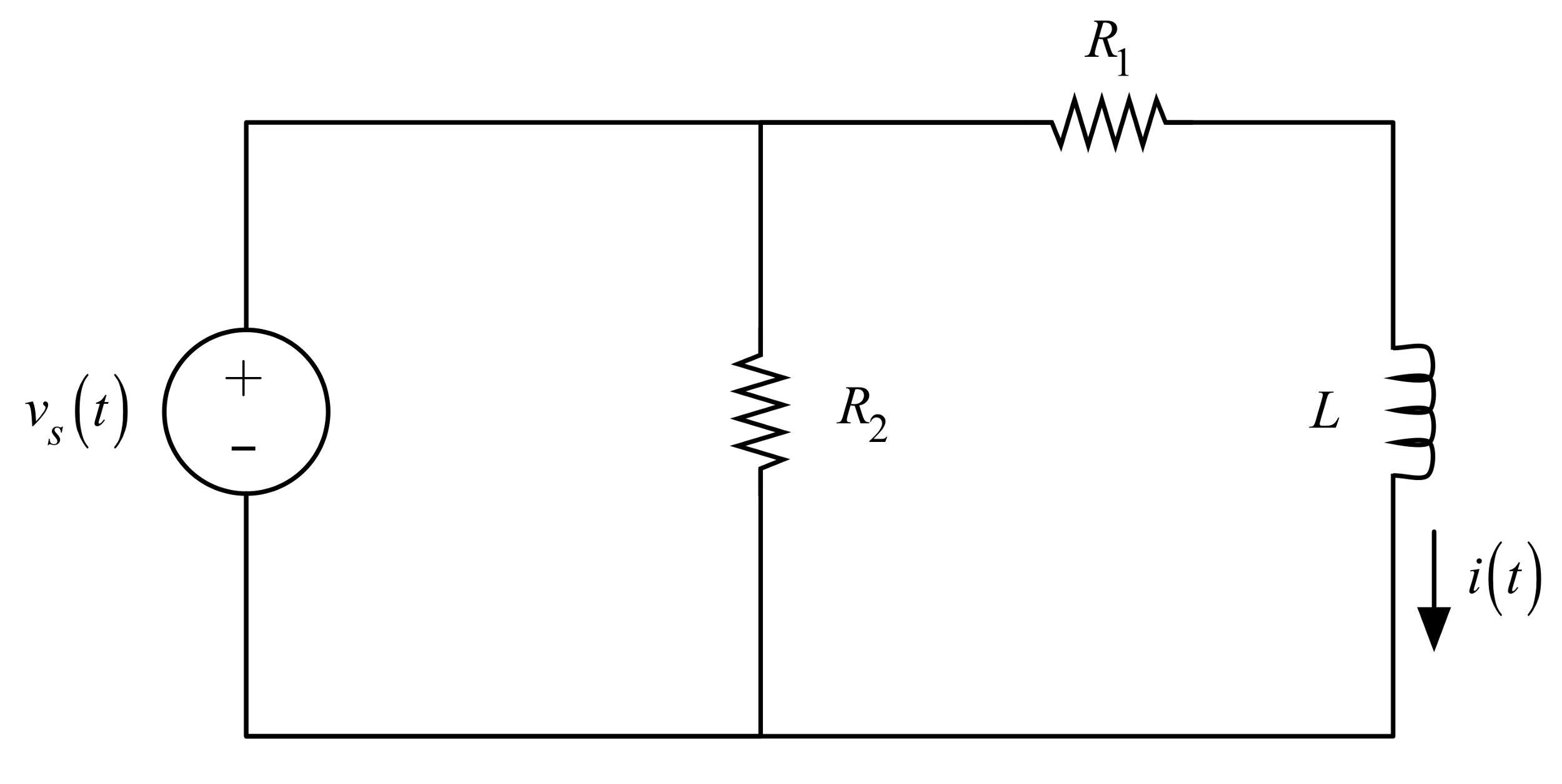 Find the current i(t) when the voltage source volt