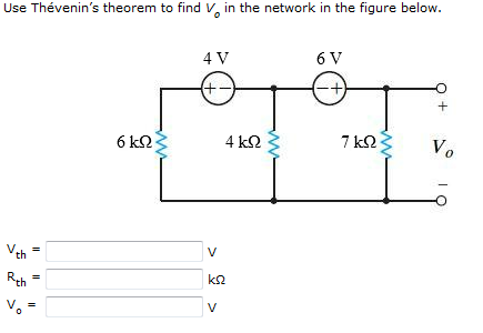 Use Thevenin's theorem to find Vo in the network i